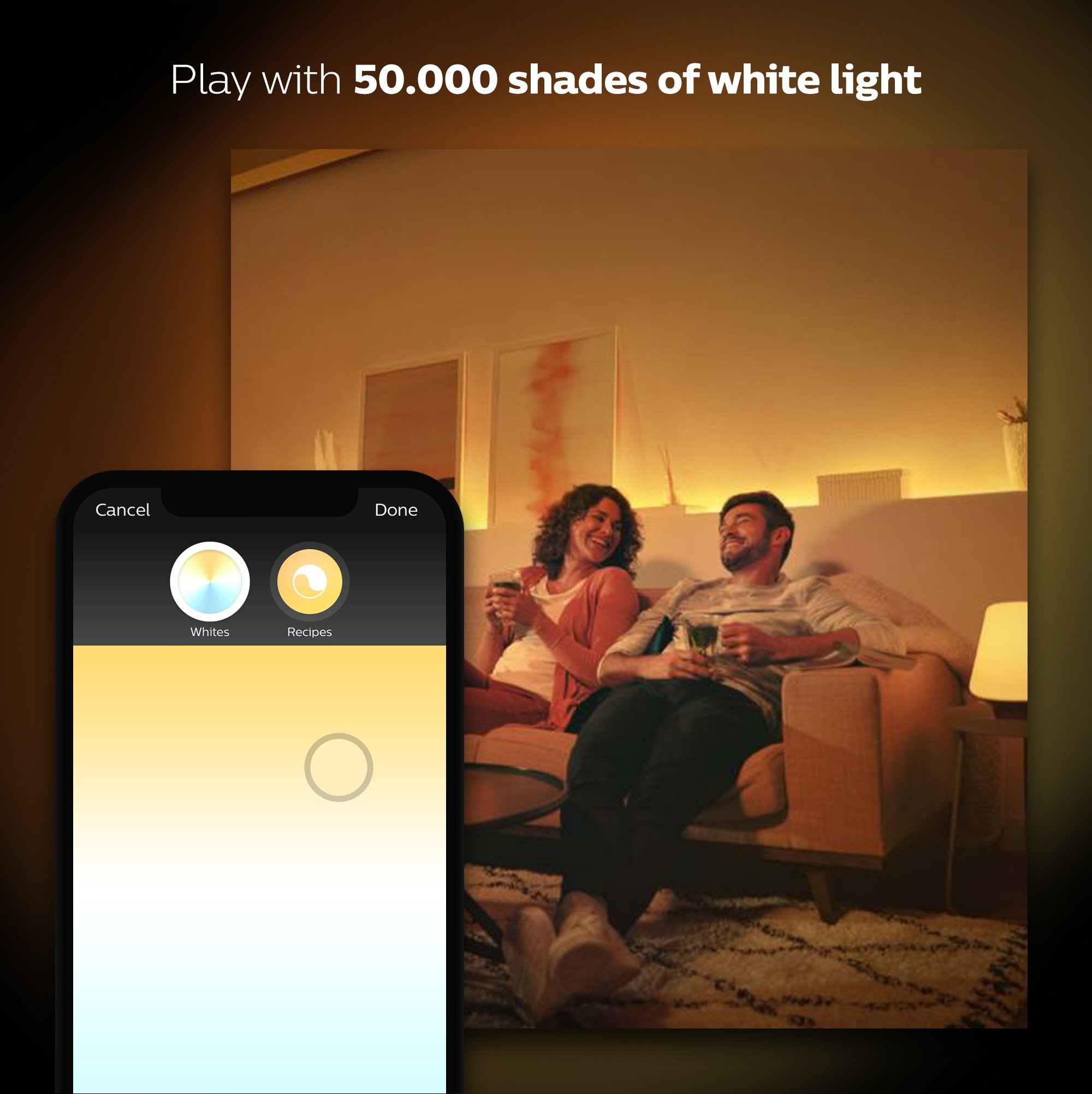 Philips Hue 2-Pack White Ambiance 60W Equivalent Dimmable LED Smart Bulb (Works with Alexa Apple Homekit and Google Assistant) by Philips Hue (Image #3)