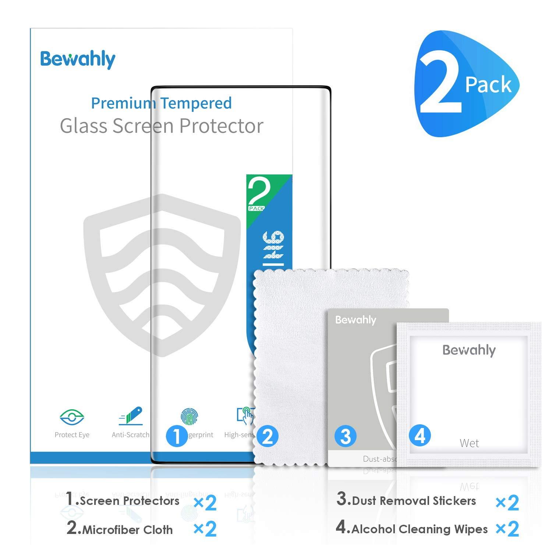 9H Alta Definicion sin Burbujas 3D Cobertura Completa Cristal Templado para Samsung Galaxy Note 10 Plus 2 Piezas Bewahly Protector de Pantalla Samsung Galaxy Note 10 Plus
