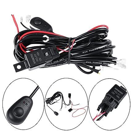 amazon com led wiring harness, powlab 2 metrer 12v 40a led pod Universal Wiring Harness at Amazon Led Wiring Harness