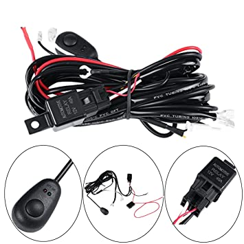 amazon com led wiring harness powlab 2 metrer 12v 40a led pod led wiring harness powlab 2 metrer 12v 40a led pod wiring harness led light
