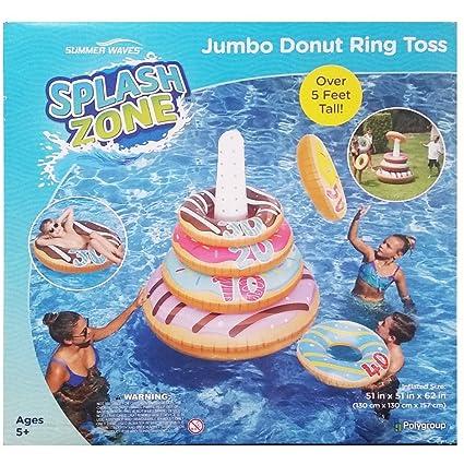 Amazon.com: Anillo gigante de verano, con forma de donut ...