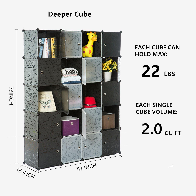 Amazoncom Unicoo Multi Use Diy Plastic 20 Cube Organizer, Bookcase,