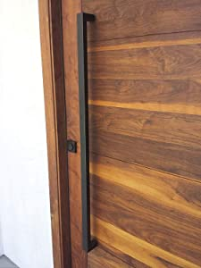 166 Matt Black Modern Stainless Steel Sus304 Entrance Entry Commercial Office Store Front Wood Timber Glass Garage Commercial Aluminum Door Pull Push Handles Double-Sided (36 Inches /900x25x38mm)