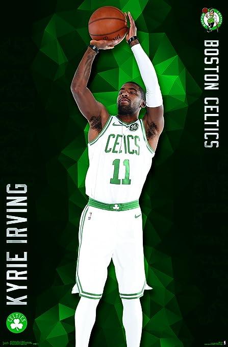 half off 523ec 45a6a Trends International Boston Celtics - Kyrie Irving Wall Poster, 22.375