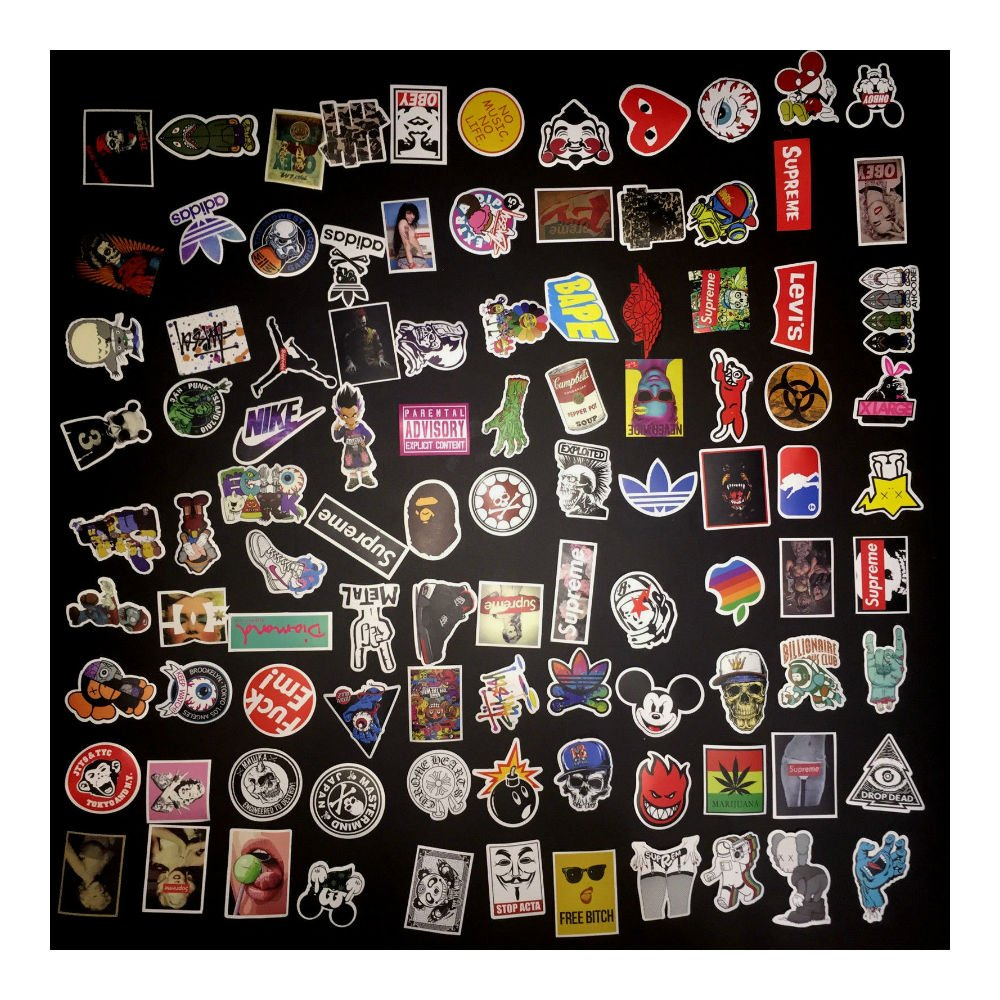 200 Skateboard Stickers bomb Vintage Hype Laptop Luggage Decals Dope Sticker Lot by Unknown (Image #2)