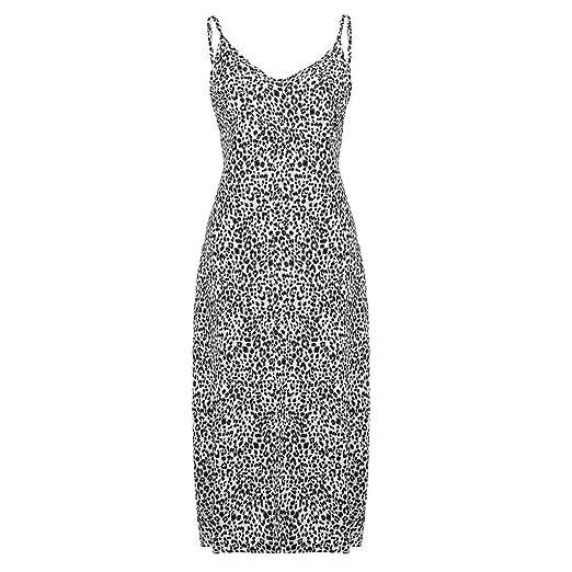 b32de8caac LEERYAAY Womens Leopard Print Long Boho Dress Summer Sundress Maxi Dress  Black
