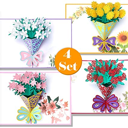 Mothers Day Flower Pop Up Greeting Cards