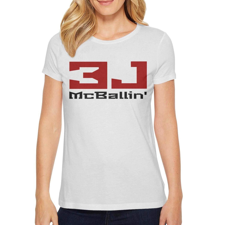 White84 EDAPPLEJ Women's Sport Basketball Player TShirt Cool Short Sleeve Shirts Athletic Design