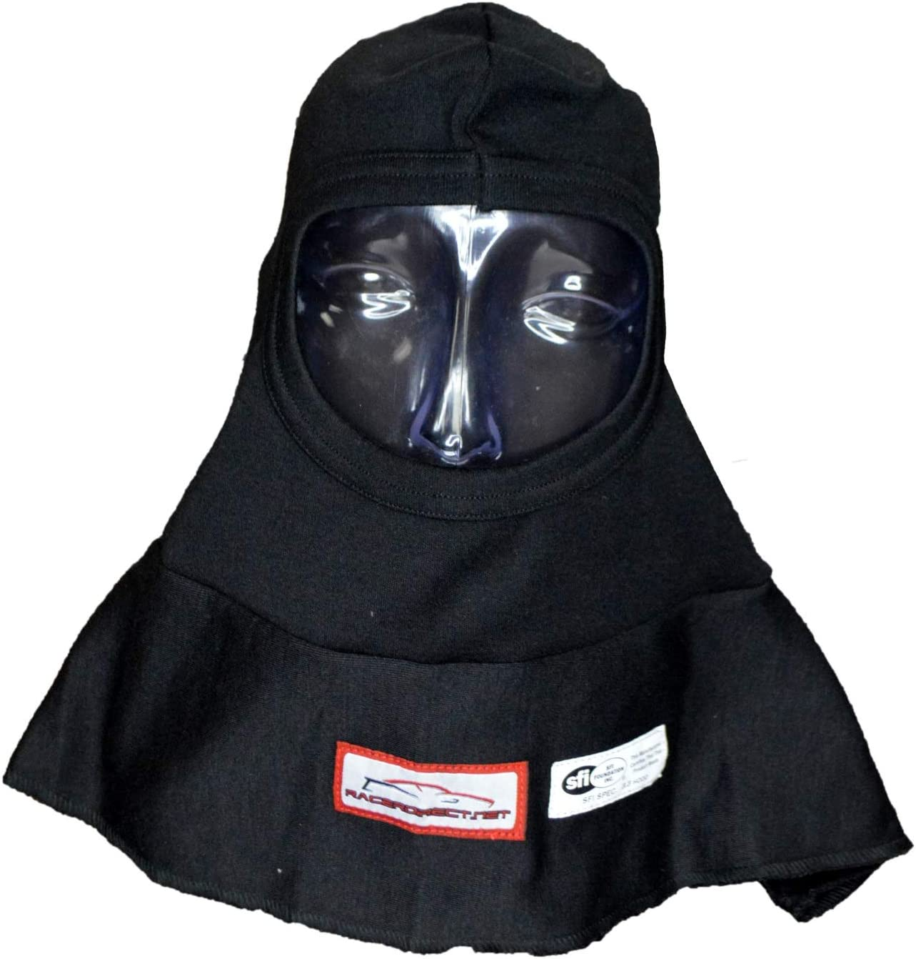 RACERDIRECT Kids Racing Hood Helmet Balaclava SFI 3.3 Full FACE Head Sock Black