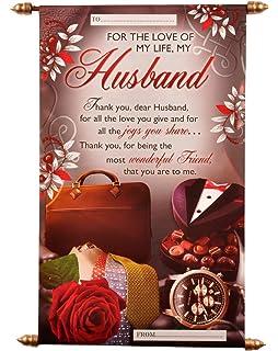 Alwaysgift happy birthday wishes for husband greeting card crd brth natali husband birthday scroll card m4hsunfo