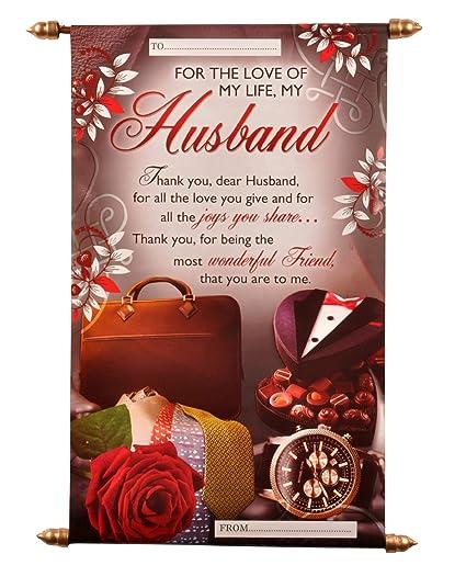 Natali Husband Birthday Scroll Card Amazonin Toys Games