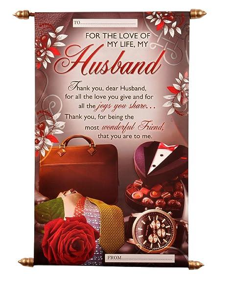 Natali Husband Birthday Scroll Card