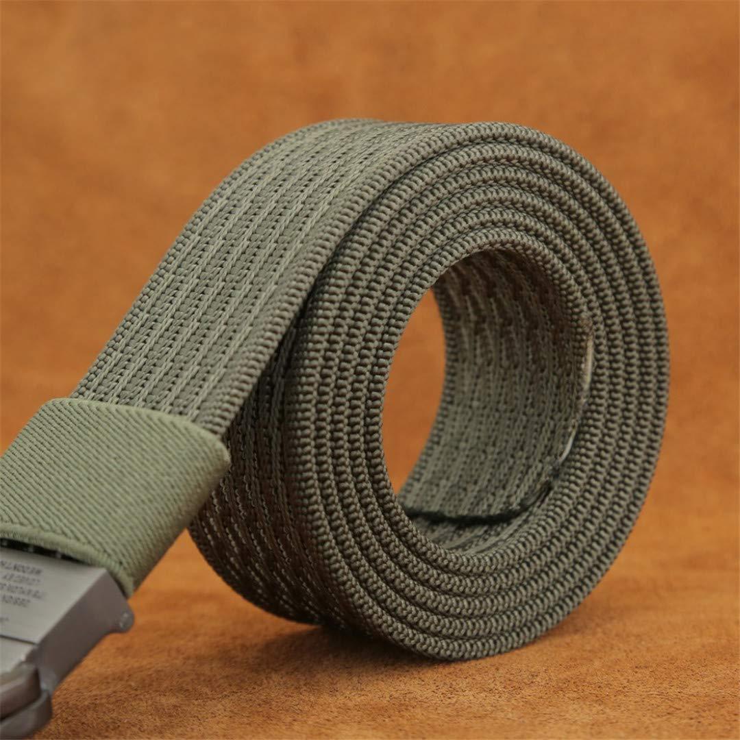 JUIHUGN Military Equipment Tactical Belt Man Double Ring Buckle Thicken Canvas Belts for Men Waistb Naturals 135cm