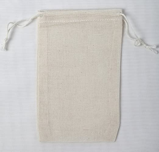 Original Cotton Muslin Drawstring Bags Bath ~Nice Thick Quality~ 50 3x5