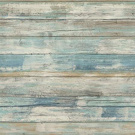 Hode Blaue Holz Folie Selbstklebend Klebefolie Mobel Tapete Mobelfolie Abziehbar Wasserfest Wanddekoration Mobelschutz Retro Blau 60x300cm Amazon De Kuche Haushalt