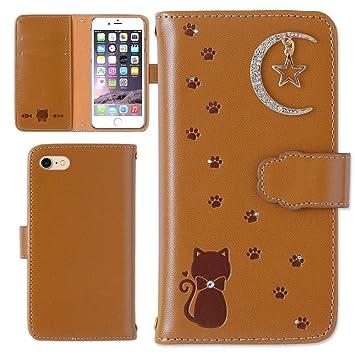 9d5c0c56bc ZenFone 5ケース 手帳型 カバー かわいい 猫 星 月 型押し エンボス レザー調 手帳