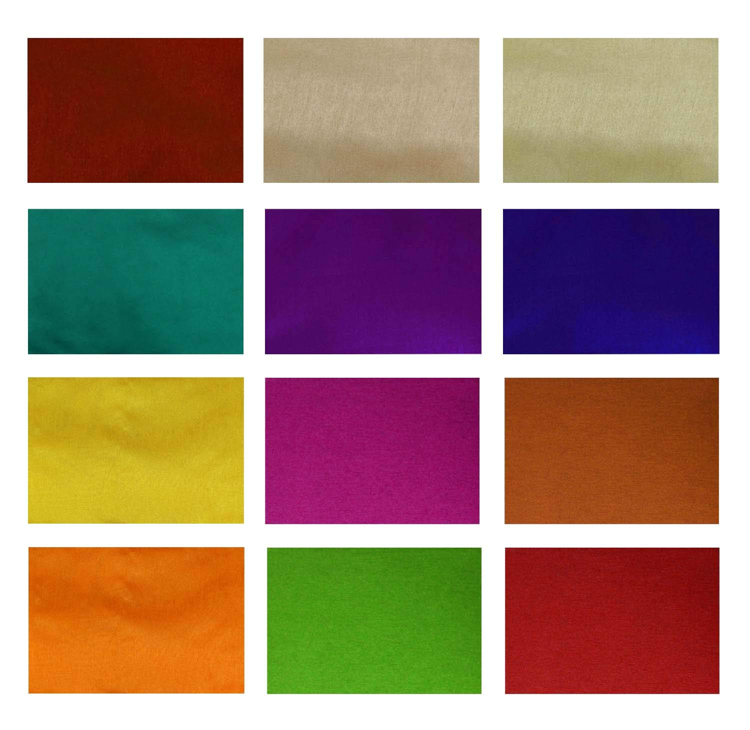 Poly Dupion Silk Fabric Swatches Squares Patchwork 10 Pcs DIY Sewing Scrap-Booking Quilting Pattern Art Craft 5 x 5