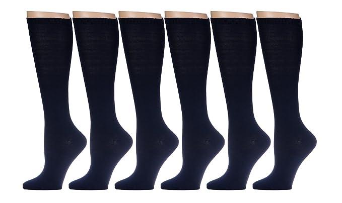 a0fee8ad9f714 12 Pairs of Girls Knee High Socks, Cotton, Flat Knit, School Socks ...