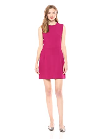3bd4417549c French Connection Women's Whisper Light Stretch Solid Mini Dress, Baked  Cherry, ...