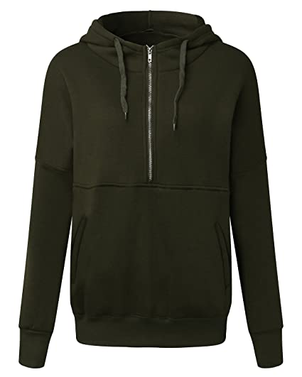 df7ae9980 ZANZEA Women s Casual Zip-Up Hoodie Long Sleeve Jacket Autumn Winter ...