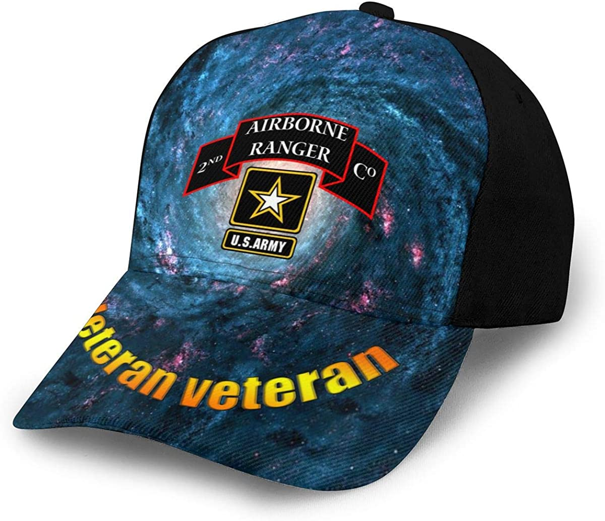 2nd Battalion of The 75th Battalion of The Army Classic Adult Snapback Caps Printing Duck Tongue Baseball Hats Unisex Caps