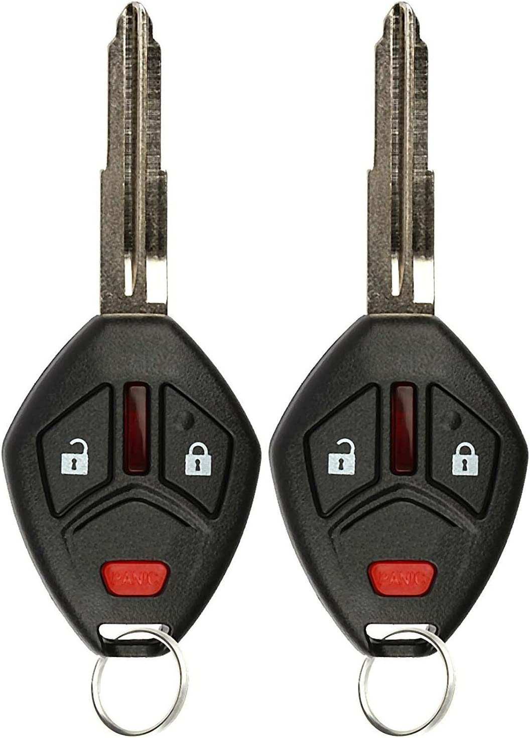 KeylessOption Keyless Entry Remote Uncut Notch Car Ignition Chip Key Fob for OUCG8D-620M-A