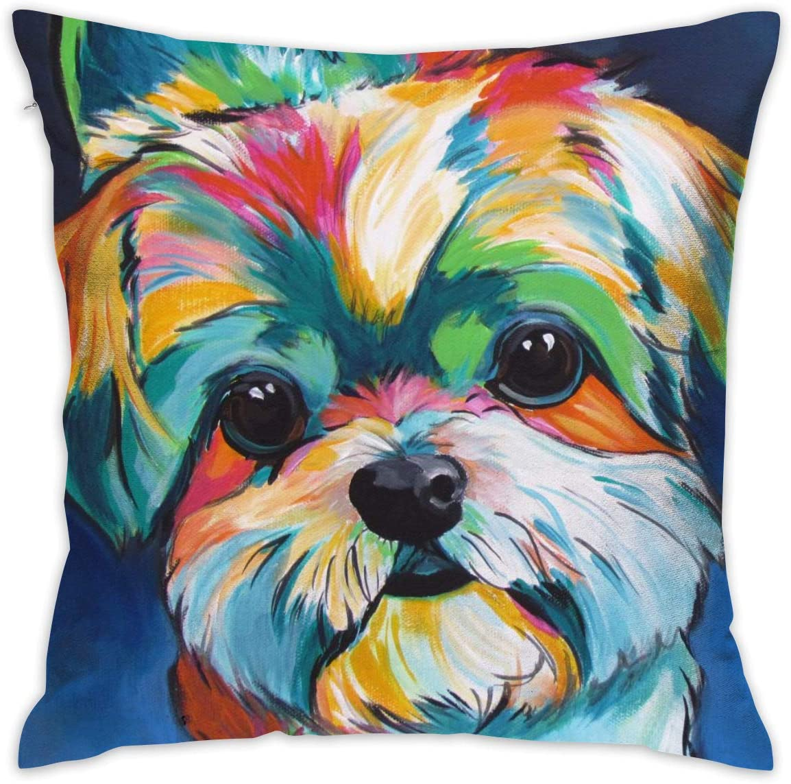Shih Tzu Cute White Art Puppy Dog 18x18 Bedroom Theme Living Room Dorm Covers Cases Couch Outdoor Indoor Sofa Set Square Throw Pillow Decorative Party Farmhouse Bed Home Decorations Ornament