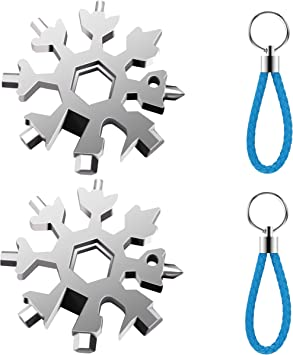 Creative Snow Keychain Tool 18 in 1 Stainless Steel Multi-tool Pocket Hand Tools