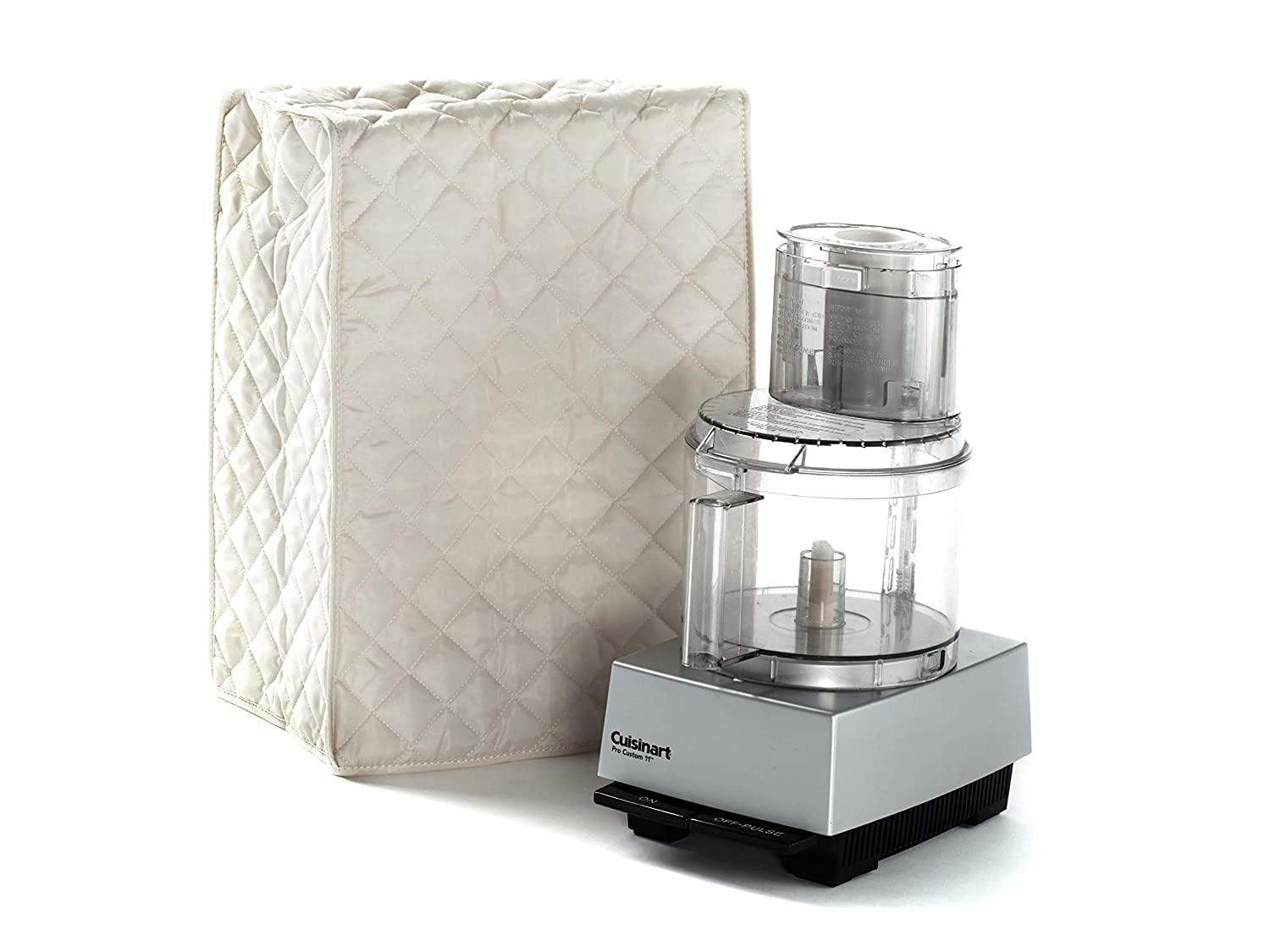Covermates Food Processor Cover 12W x 8D x 17H Diamond Collection 2 YR Warranty Year Around Protection – Cream