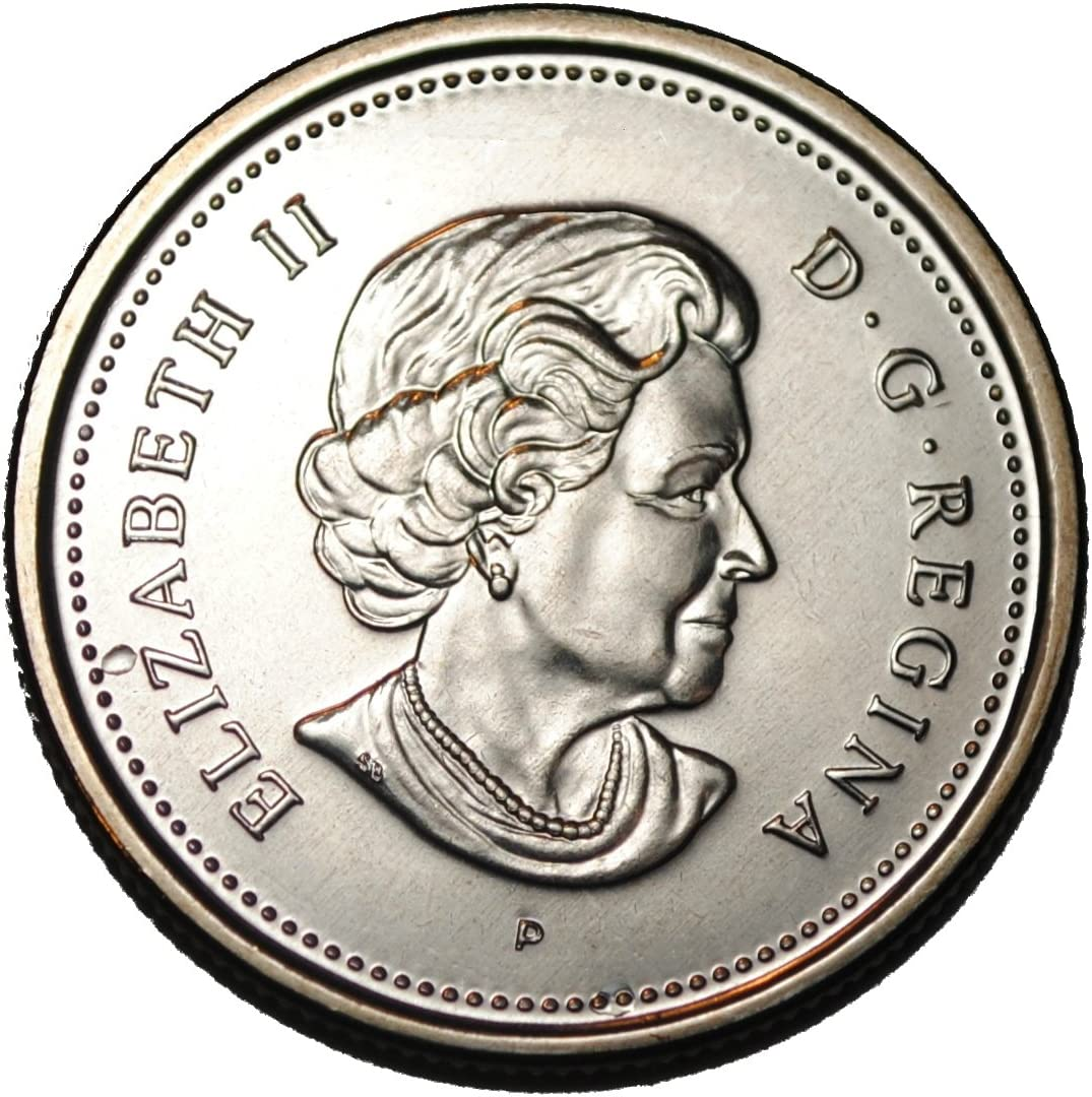 2004 CANADA 25 Cent First Settlement Quarter Coin From Mint Roll UNC Low Mint