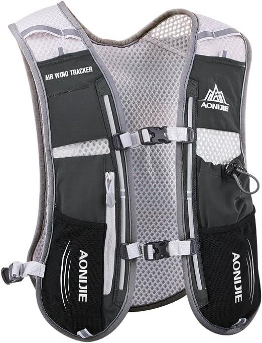 Amazon Com Aonijie Hydration Vest Pack Backpack 5l Marathoner Running Race Hydration Clothing