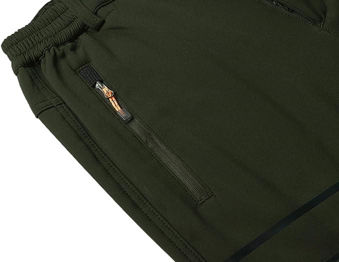 Naudamp Pantalon ext/érieur en Laine Polaire Softshell pour Hommes Pantalon de randonn/ée imperm/éable Pantalon de Ski Alpin