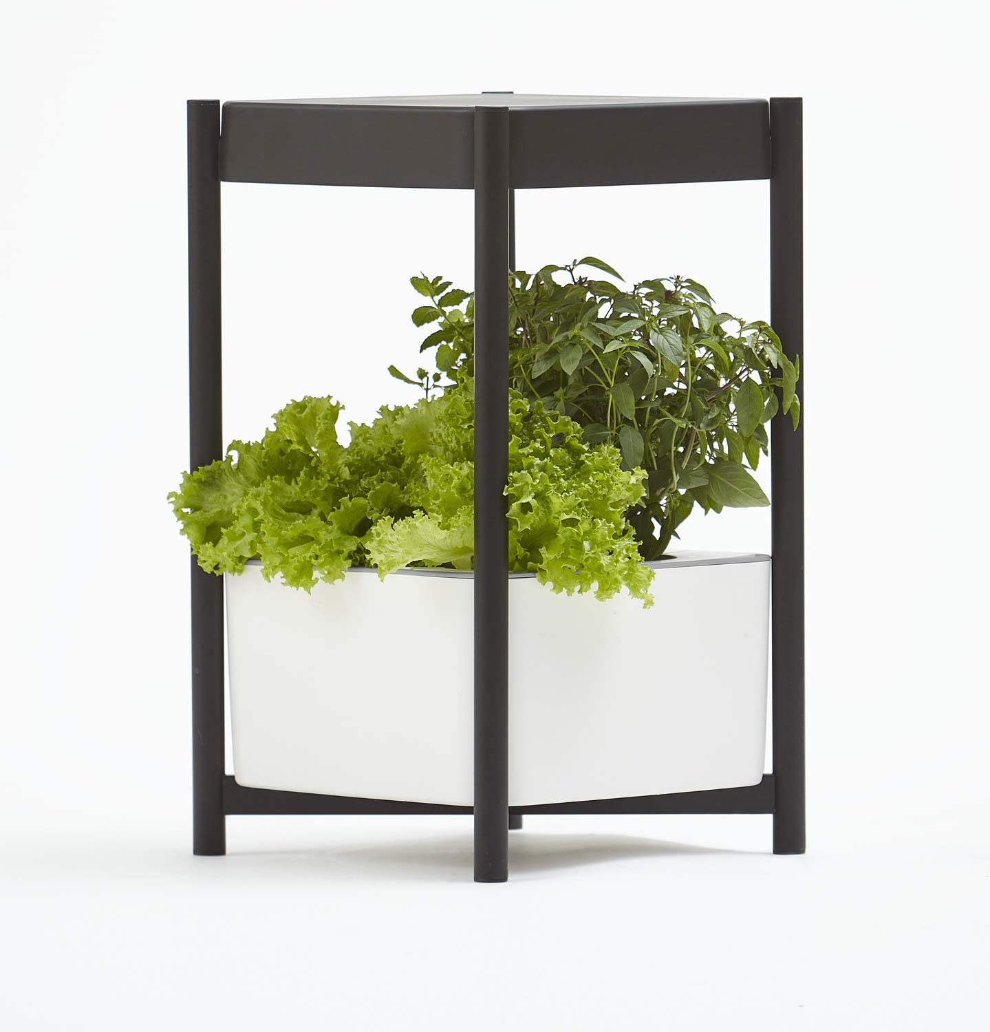 Miracle-Gro Twelve Indoor Growing System, Side Table with LED Grow Light for Year Round Gardening, Planter for Leafy Greens, Herbs and Flowers