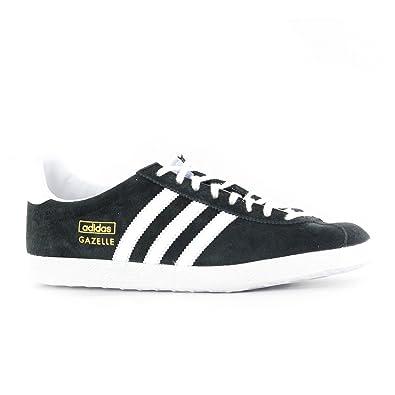new product f3d38 d939f Adidas Gazelle OG Black White Suede Mens Trainers Size 40 23 EU