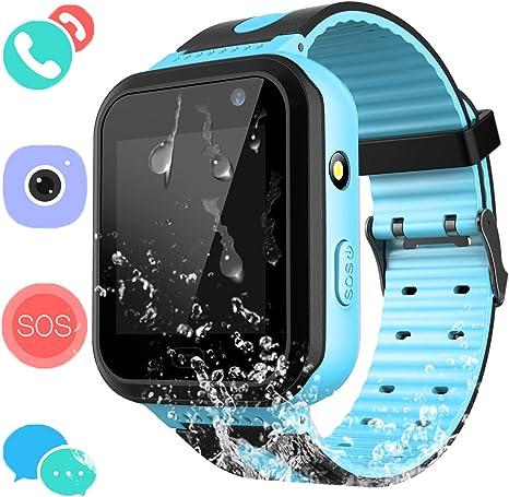 Kids Waterproof Smart Watch Phone - Boys & Girls IP67 Waterproof Smart Watch Phone with Camera Games Sports Watches Back to School Supplies Grade ...