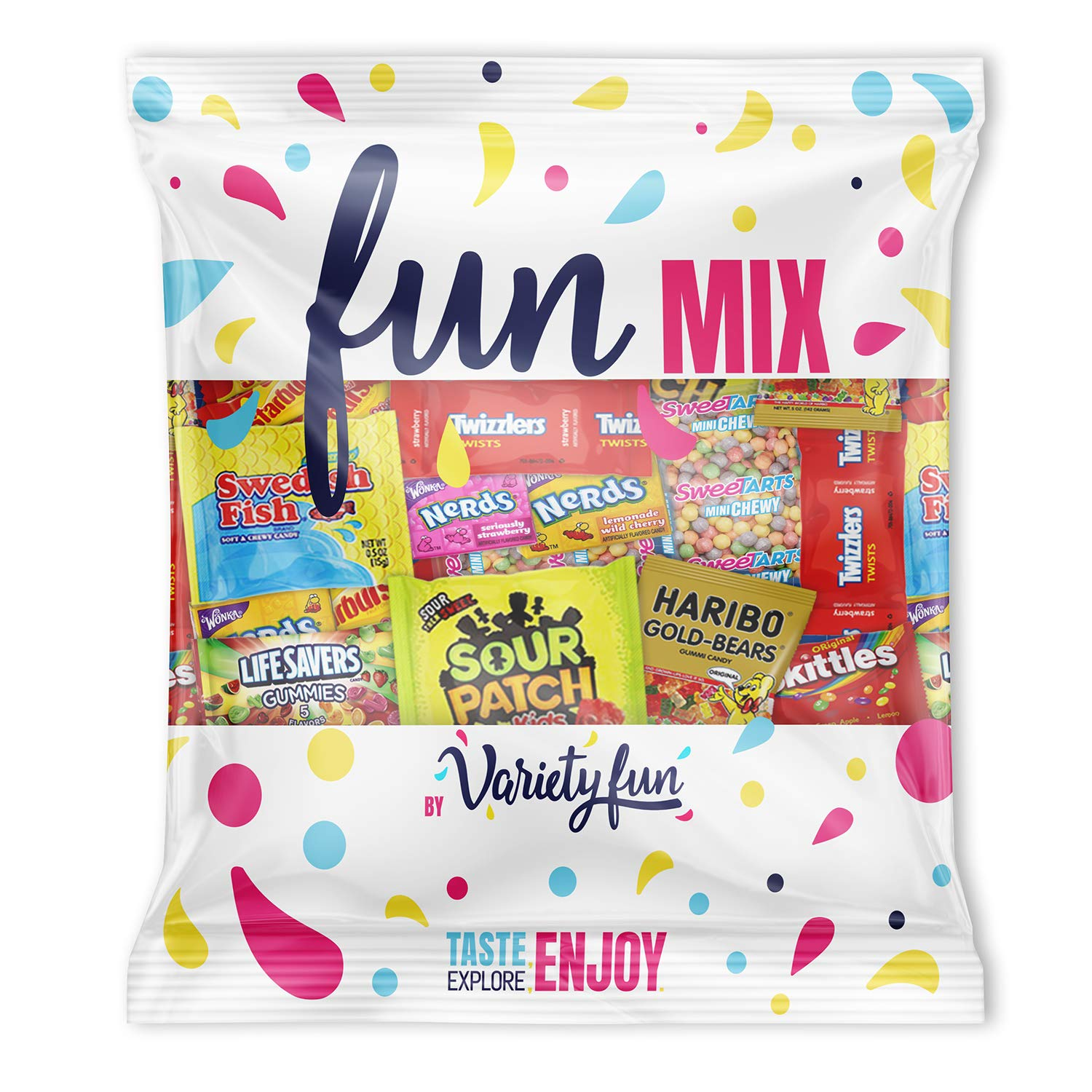 Candy Party Mix Bulk Bag of Skittles Swedish Fish Nerds Haribo Gummy Sour Patch Twizzlers Starburst Mike and Ike and more! by Variety Fun Net wt (48 oz) by Custom Varietea (Image #4)