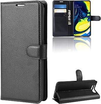Funda para Samsung Galaxy A80 Case Flip Cover Cartera con Ranura ...