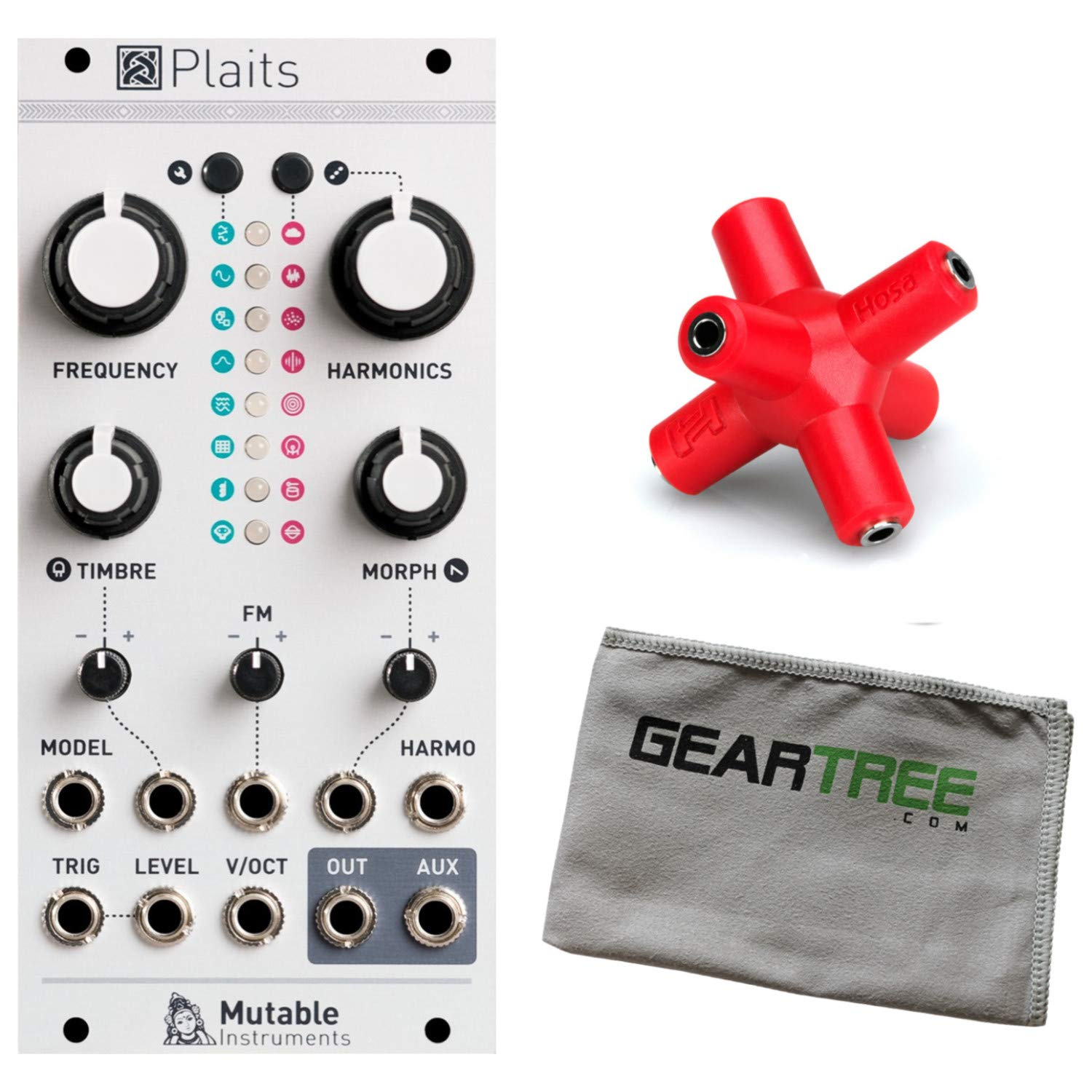Mutable Instruments Plaits Percussion Synth Module w/Splitter and Cloth by Mutable Instruments
