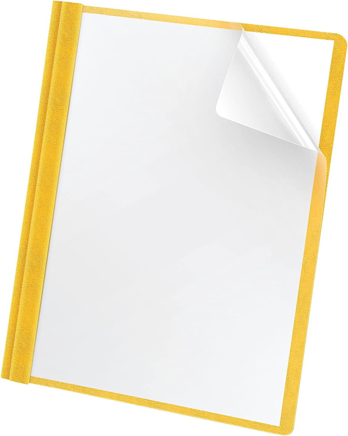 Oxford Premium Clear Front Report Covers, Letter Size, Yellow, 25 per Pack (58809EE) : Project Folders : Office Products