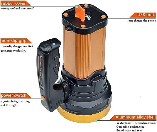 Olidear Rechargeable Spotlight Ultra Bright Flashlight LED Emergency headlight