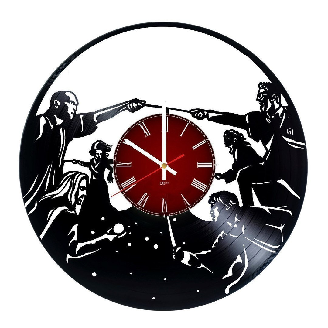 Harry Potter Magicians Design Handmade Vinyl Record Wall Clock - Get unique living room, bedroom wall decor - Gift ideas for boys and girls – Movie Characters Design Unique Fan Art