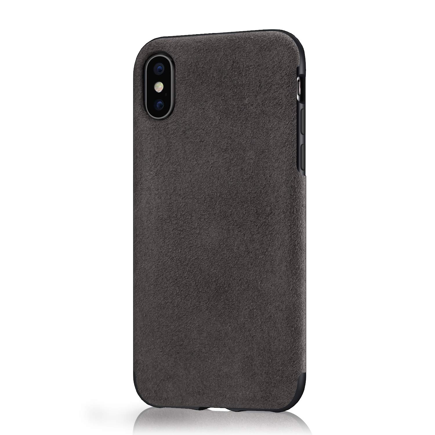 separation shoes 1e743 776c8 Mthinkor Compatible with iPhone Xs Case, iPhone X Case Luxury Slim Case  Made of Alcantara Material (Gray)