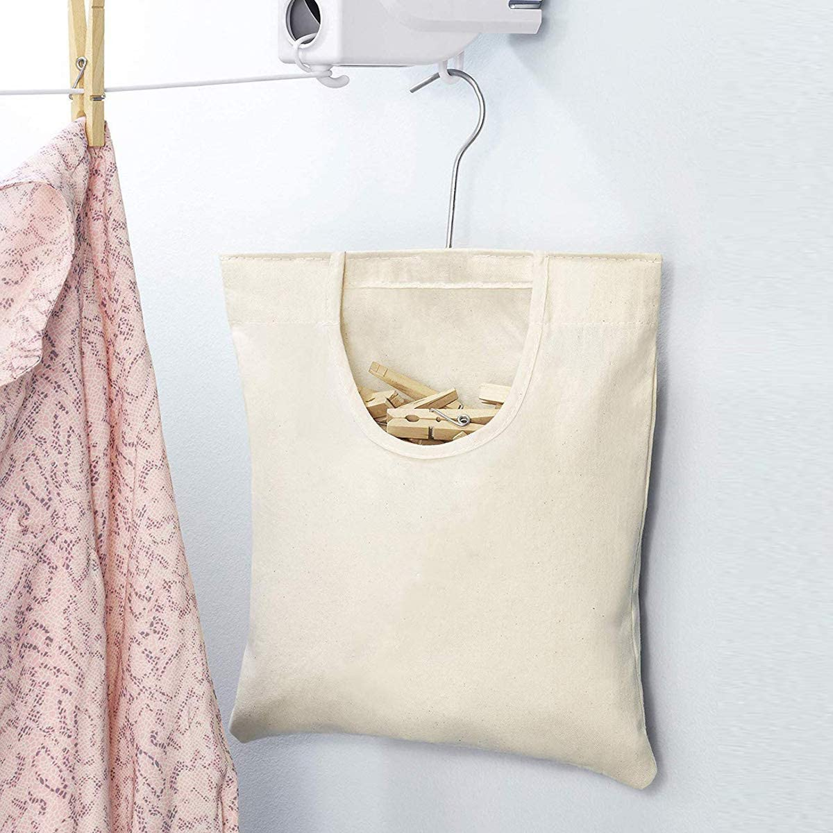 Clothespin Storage Bag Hanging Laundry Clothes Pin Organizer HelloCreate Outdoor Clothespin Storage Bag