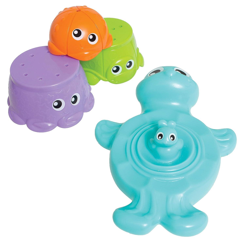 Playgro Juguete de Baño Tortuga y Amiguitos, 4 Piezas, Desde los 9 Meses, Bath Stacking Cup Friends, Multicolor, 40148: Amazon.es: Bebé