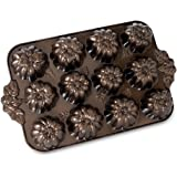 Nordic Ware Pumpkin Patch Muffin Pan, Bronze