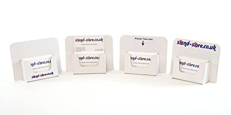 Stand Store 9320 Cardboard Business Card Holders White