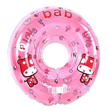 Anillo flotador inflable para bebé, cuello ajustable de seguridad ...