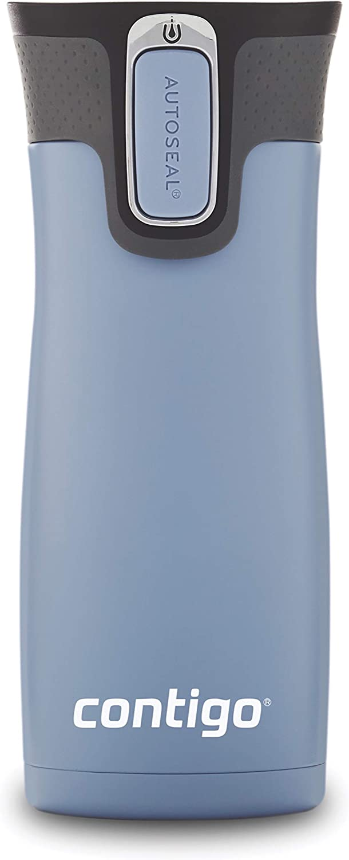 Contigo AUTOSEAL West Loop Vacuum-Insulated Stainless Steel Travel Mug, 16 oz, Earl Grey