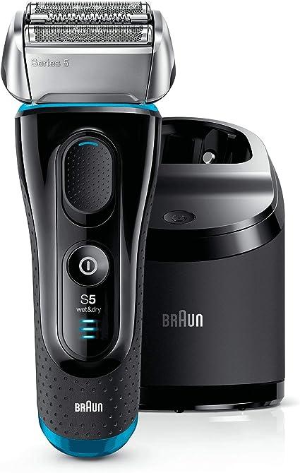 Braun Series 5-5190cc - Afeitadora eléctrica, color negro y azul: Amazon.es: Salud y cuidado personal