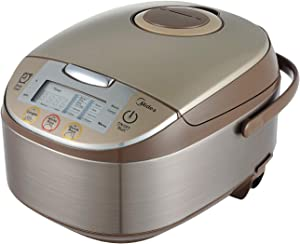 Midea Micom Rice Cooker, Digital Multi-Functional Ricer Cooker/Steamer, Brown Rice, Slow Cooker (3L/5.5Cup, Champange) MB-FS3017